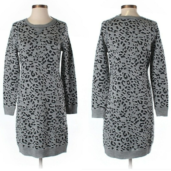 1d42443bdb LOFT Dresses   Skirts - LOFT Leopard Print Sweater Dress